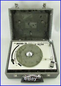 VTG Rare ORIGINAL Hilton Micro 75 Sound System DJ Record Player withcase box WORKS