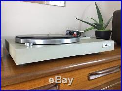 Vintage Akai AP-B20C Semi Automatic Turntable Record Player Vinyl LP Silver Hifi