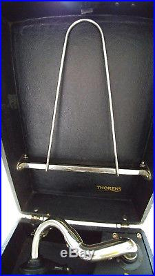 Vintage Antique Portable Swiss Thorens Windup Gramophone 78 rpm Record Player