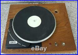 Vintage GRAY HSK-33 Turntable Record Player LP FOR Repair/Part ESL SHURE