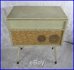 Vintage Lafayette Mid Century Modern Turntable Record Player Console WORKING