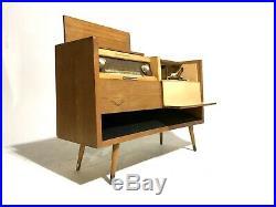 Vintage Mid Century German Grundig Majestic Console Radio Record Player Atomic