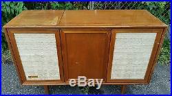 Vintage Mid Century Modern Danish Voice Of Music Credenza Record Player FM Radio