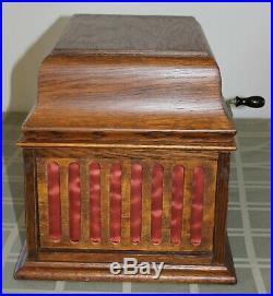 Vintage Phonograph EDISON Amberola 30 Cylinder Record Player WORKS