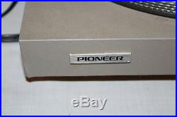 Vintage Pioneer PL-518 Direct Drive Auto Return Turntable Record Player
