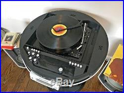 Vintage RARE Weltron 2005 record player radio 8 track turntable WITH speakers
