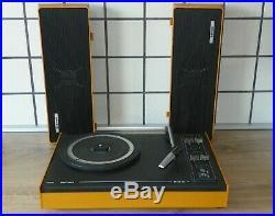 Vintage Rare 70s. Portable Record Player 603 Philips 22GF603/03E Perfect looks