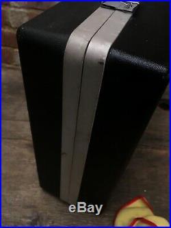 Vintage SANYO G-2615 H Suitcase Stereo HiFi Record Player Tape Radio James Bond