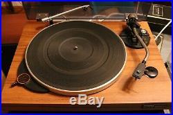 Vintage micro seiki solid 1 turntable record player wood veneer Belt Ortofon Om