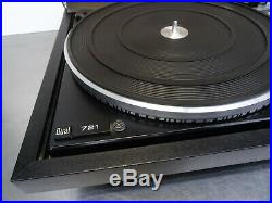 Vintage turntable record player Plattenspieler automatic direct drive Dual 721