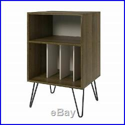 Vinyl Record Player Stand Album Storage Concord Turntable Rack Retro Shelves