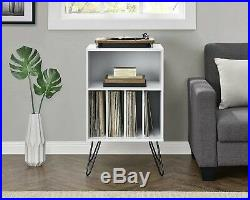 Vinyl Record Player Storage Stand Rack LP Turntable Retro Table Shelves Album
