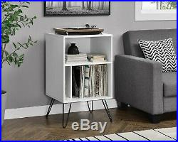 Vinyl Record Player Storage Stand Table Home Rack Turntable Retro Album Shelves
