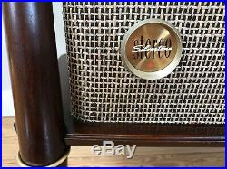 Vtg 60s Mid Century Danish Modern Stereo Console Tube Record Player Silvertone
