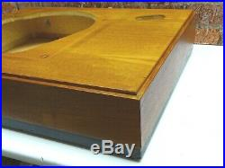 Wooden Plinth & Perspex Lid To Fit A Garrard 401 Record Player Turntable Deck
